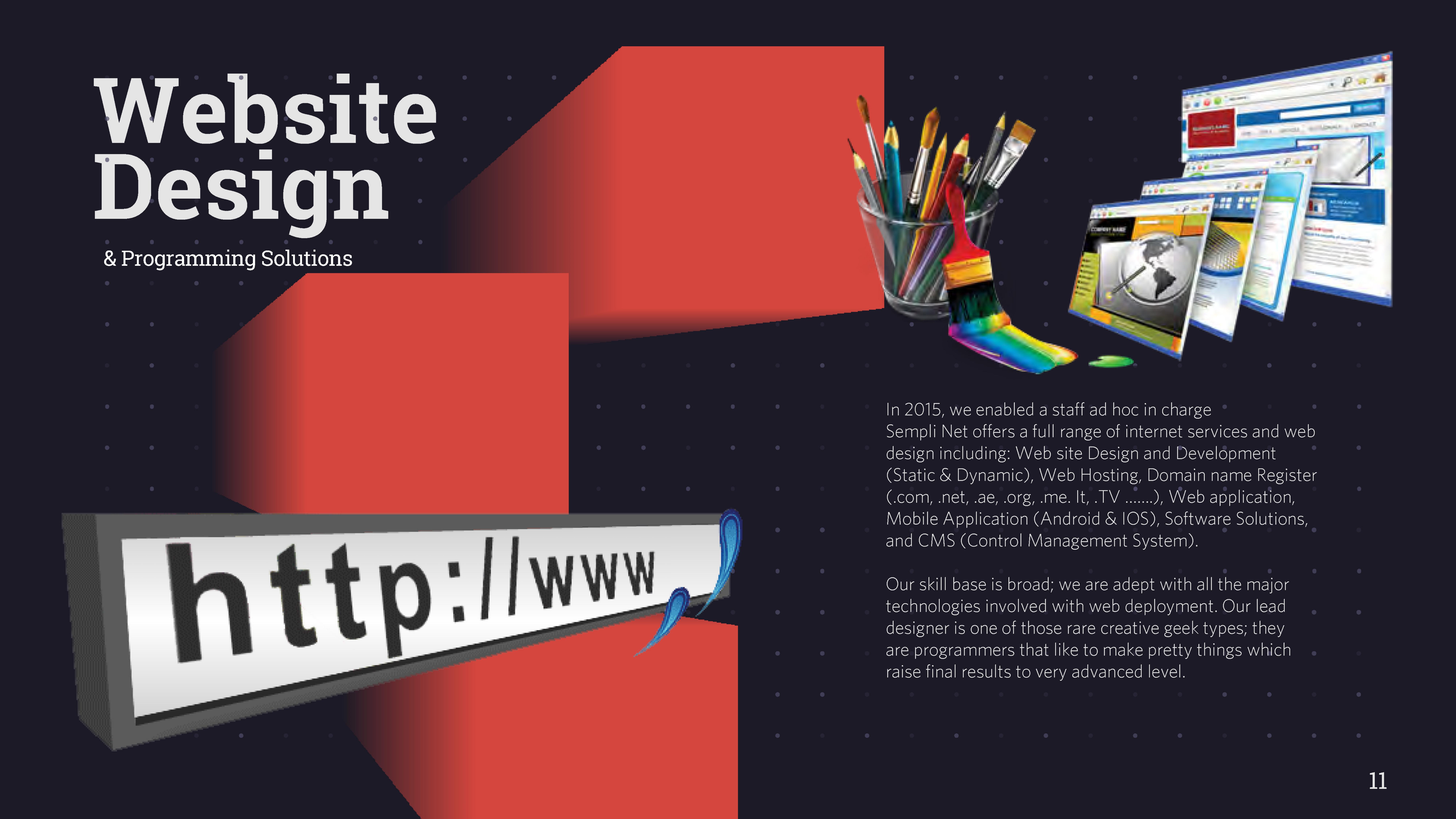 Sempli Net - Web Design - Web Hosting -E-Media - Software -Graphic